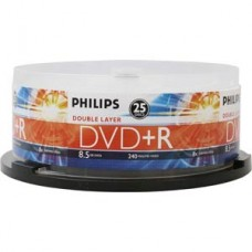Philips DVD+R DL 8X 25PK 8.5GB 8x Double Layer