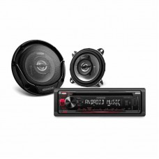 Kenwood Single Din AM-FM CD Player Package