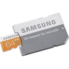 Samsung 64GB EVO Class 10 UHS-1 Micro SDHC up to 48MB/s with Adapter
