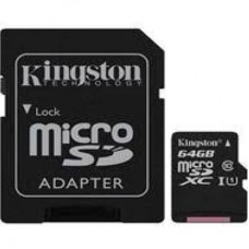 KINGSTON 64GB Class 10 UHS-I MicroSDHC