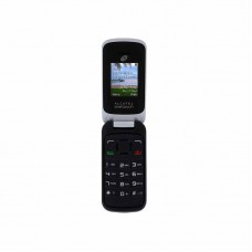 Tracfone Alcatel A206 Basic Flip Phone - Black