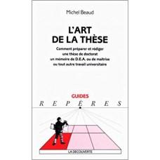 L-art  de la thèse Michel BEAUD