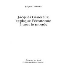 Jacques Genereux explique l eco Jacques Genereux