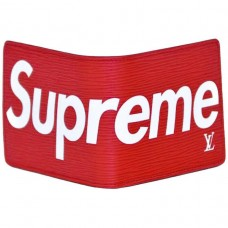 PORTEFEUILLE LOUIS VUITTON SUPREME X - ROUGE