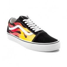Women Flame Old Skool Sneakers Size 43