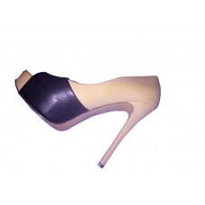 Escarpin beige et noir shoe size 41