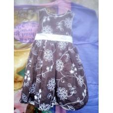 Petite Robe Sans Manche Avec Bande Pour Enfant de 4 Ans