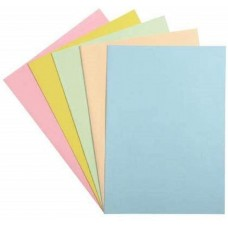Cardboard folder in pack of 100 multiple colors