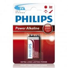 BATTERY 9V 6LR61 PHILIPS EXTRA POWER ALKALINE