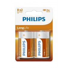 Philips  54952  Battery 2 R20 D  Longlife