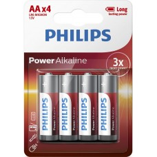 Philips PowerLife LR6 1.5V AA alkaline batteries