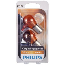 Philips Vision PY21W - 12496B2 - Set of 2 amber flashing bulbs