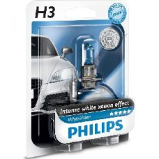 Ampoule philips lampe white vision h3 12336 12v 55w pk22s