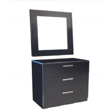 FIRST COMMODE 3 DRAWERS + MIRROR