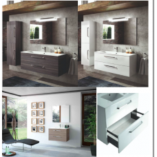 Set wall hung vanity-washbasin-mirror 60cm * 54 * 45cm