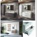 Set wall hung vanity-washbasin-mirror 60cm * 54 * 45cm