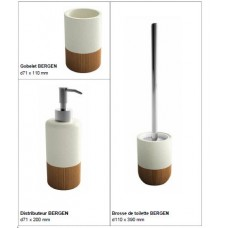 BERGEN tumbler d71 times 110 mm and BERGEN dispenser d71 times 200 mm and BERGEN detergent brush d110 times 390 mm