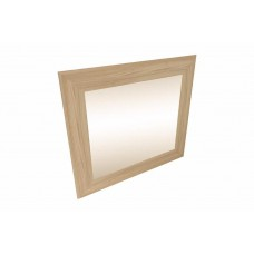 Framed mirror in laminated wood