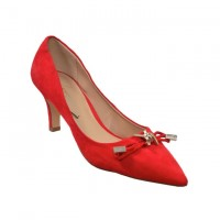 Suede Heeled Shoes - Red shoe size 40-41