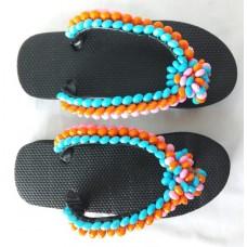 Sandales faites maison de couleur Multi