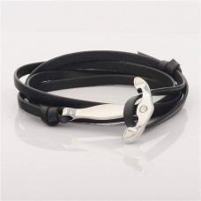 Bracelets En Cuir Noir