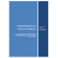 Enseigner Plus Explicitement