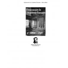 Dictionnaire Academie Francaise 5eme Edition