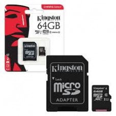 Kingston Digital 64GB MicroSDXC Class 10 Flash Card
