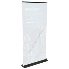 Displays2go 39 x 77 Retractable Banner Stand for Custom - Vinyl Graphic