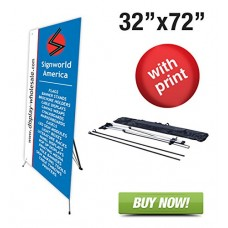 Banner Stand 32 X 72-Medium-with Vinyl Print