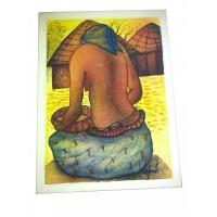 An African Woman Paint