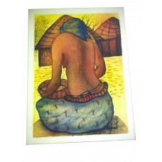 An African Woman Paint