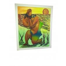 Tableau Africain fait a la main