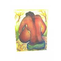 Tableau Africain femme tribale