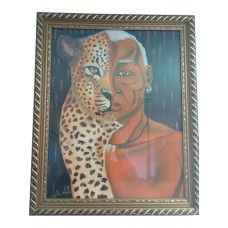 African paint-Half leopard half human-Free Delivery in the USA
