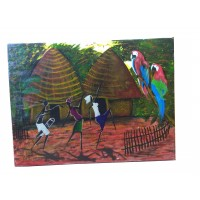 African Painting  African village