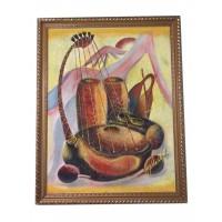 Tableau Africain wapati instrument