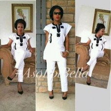 white set pants women