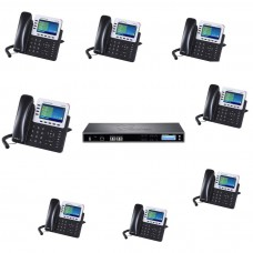 Grandstream Bundle IP PBX UCM6510 and 8 IP Phones GXP2140