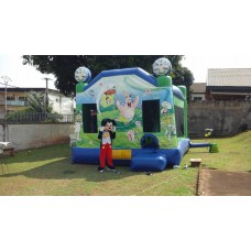 Inflatable playground Disney land for children
