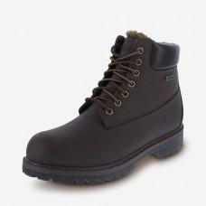 DEXTER-Men s Cheyenne Fleece Boots dark brown size 40
