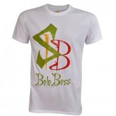 Shirt Boloboss - print - White