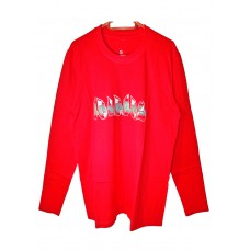 long sleeve printed Boloboss t-shirt - red