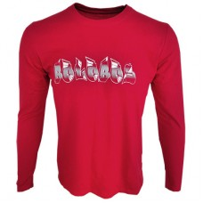 long sleeve printed Boloboss t-shirt - red