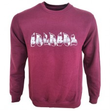 Boloboss print sweater - burgundy red