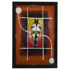 Mask wall decor: art moderne