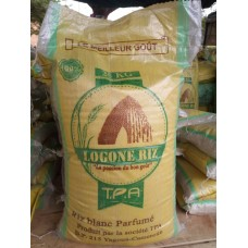 Logone Rice Nouria - 2 packet of White rice Naturally flavored 25kg