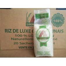 Logone Rice Nouria - packs of 20 White rice 1kg Naturally scented