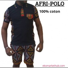 A Black African polo shirt combination