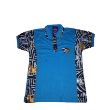 Blue African Polo Shirt